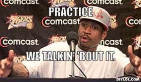 Allen Iverson questioning practice.